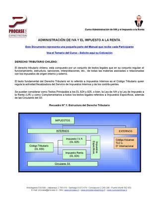 textos legales y reglamentos servicio de impuestos internos adm 445 administraci 243 n del iva y el impuesto a la renta