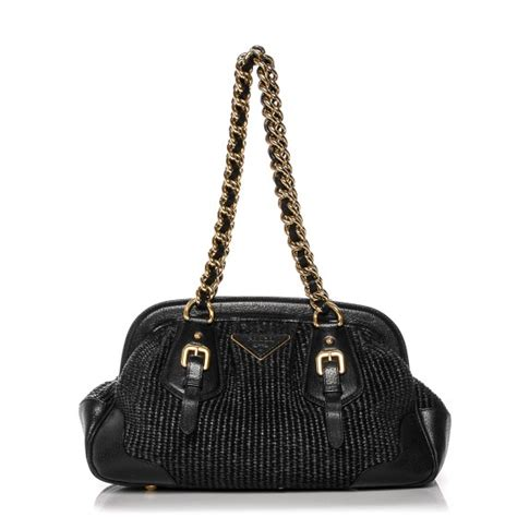 Prada Juta Laminata And Cinghiale Frame Bag by Prada Paglia Cinghiale Frame Tote Nero Black 184764