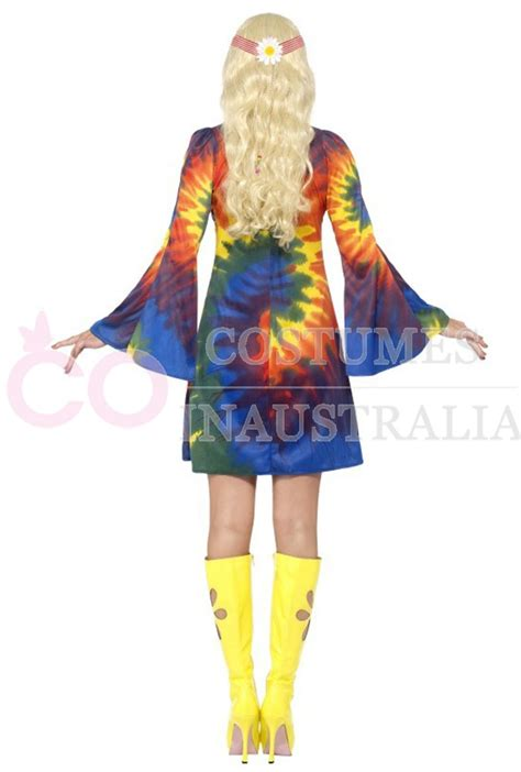 licensed ladies tie dye   retro hippie   girl disco costume outfit ebay