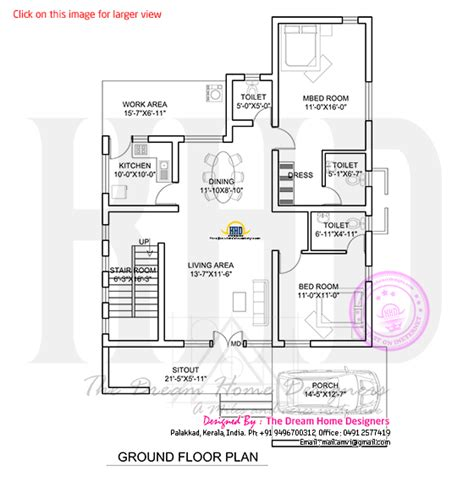 3d ground floor plan 3d view and floor plan kerala home design and floor plans