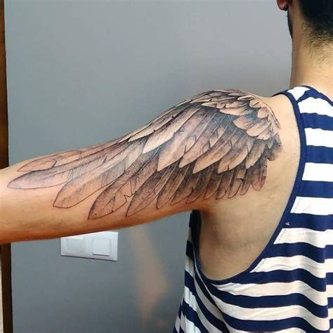 wing tattoo meaning wing on shoulder designs ideas and meaning