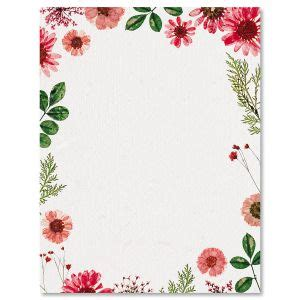 floral letter stationery paper colorful images
