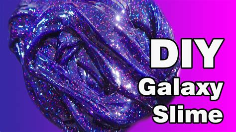 tutorial slime galaxy diy how to make galaxy slime without borax easy