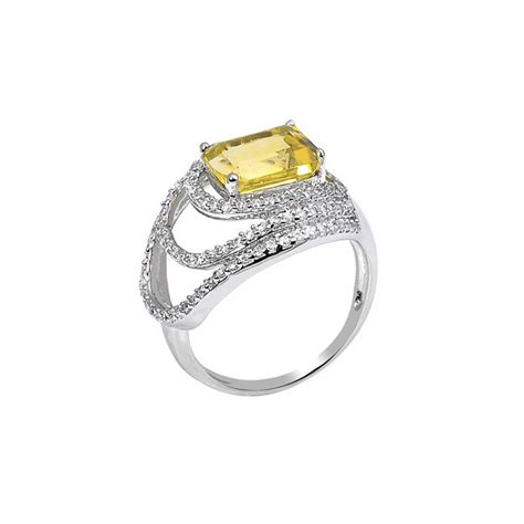 Yellow Citrin yellow citrine ring by h azeem notonthehighstreet