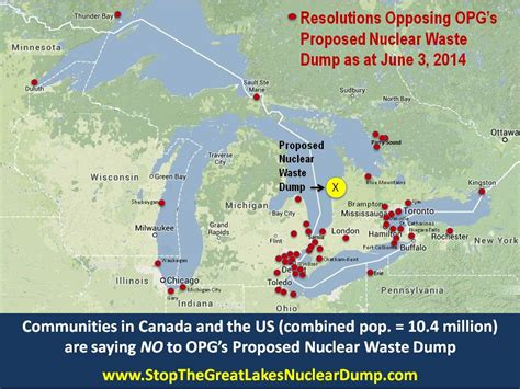 ontario nuclear waste repository proposed  great lakes