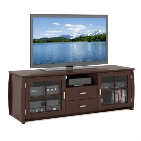 wood tv bench wood tv bench in stained espresso wb 1609