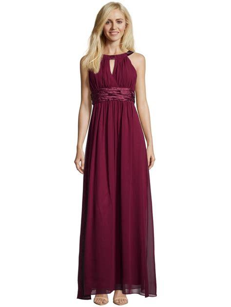 Abendkleid Bordeaux Lang by Jakes Collection Abendkleid Mit Collierkragen In Rot