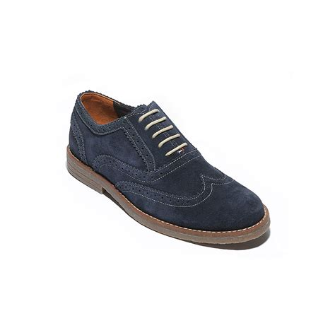 suede oxford shoes hilfiger suede oxford shoe in blue for lt th
