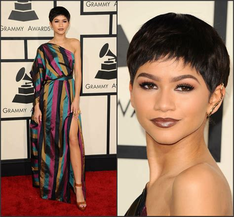 zendaya coleman 2015 grammy hair zendaya coleman in vivienne westwood at the 2015 grammy