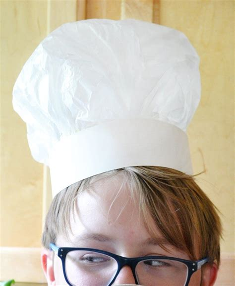 A Hat Out Of Paper - how to make a chefs hat out of tissue paper
