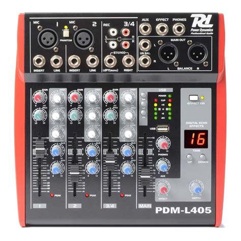 Power Lifier Digital Stereo Echo Mixing 4 Imput Mic 150wattx2 dale gmbh 171166 pdm l405 mixer 4 channel mp3 echo