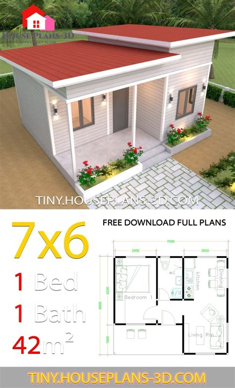 tiny house plans    bedroom shed roof tiny