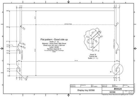 flat pattern drawing nx sheetmetal drafting brimum mechanical draughting