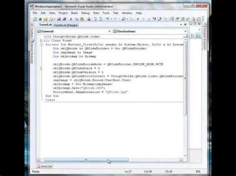 cara membuat barcode dengan vb net c 243 mo generar c 243 digos qr visual basic net how to gener