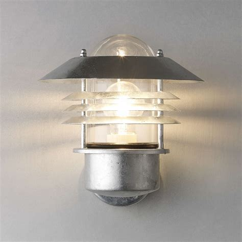 nordlux vejers outdoor wall light galvanised steel at