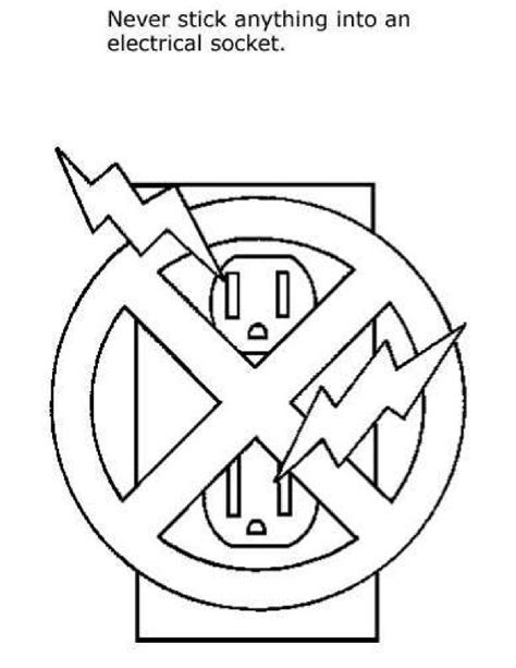 Safety Coloring Pages Safety Signs Coloring Pages Coloring Home by Safety Coloring Pages