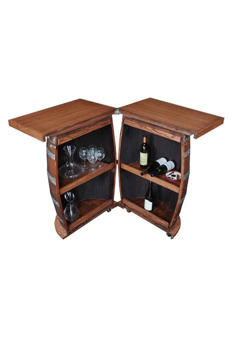 wine barrel portable folding bar