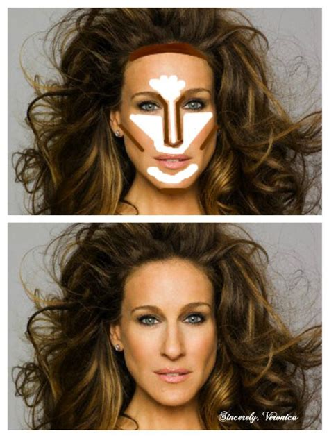 how to round a rectangular face with a haircut highlight and contour oblong face beauty pinterest