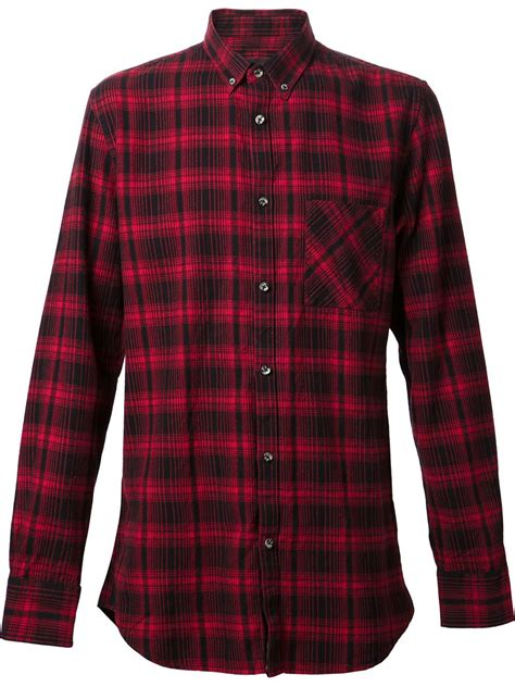 pattern for long shirt dress zanerobe plaid pattern long shirt in red for men lyst