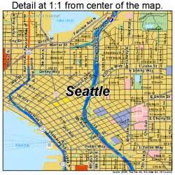 Street Map Of Seattle by Seattle Washington Street Map 5363000