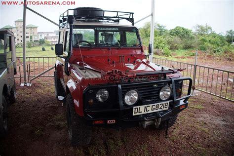 land rover defender india heritage vehicle display at india 4x4 week