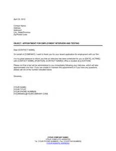 Appointment Letter Sample For Workers Appointment For Employment Interview And Testing