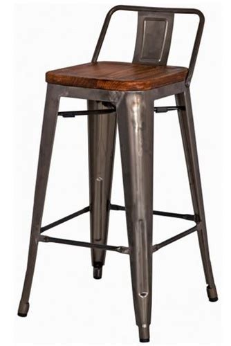 Low Back Metal Counter Stools by Gun Metal Wood Counter Stool Low Back