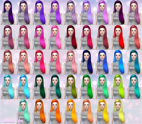 sims 3 cc hair color my sims 4 blog butterflysims 099 hair retexture in 60