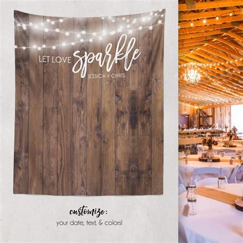Wedding Backdrop Wood by Rustic Wedding Wood Backdrop Custom Tapestry Dessert