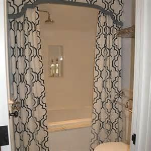 Gray Bathroom Valance Shower Valance With Curtains Transitional Bathroom Liz