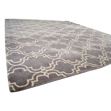 84 pottery barn pottery barn grey scroll tile rug - Discounted Pottery Barn Rugs