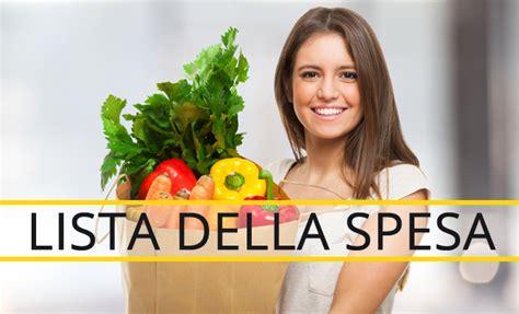 lista spesa alimentare la lista della spesa scaricabile