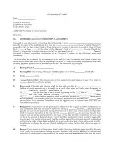 Letter Of Commitment Template by Usa Commercial Loan Commitment Letter Forms And