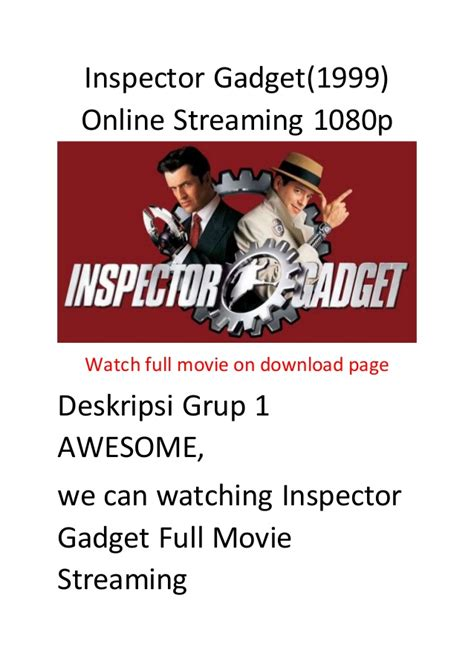 streaming film action comedy inspector gadget 1999 online streaming 1080p full action