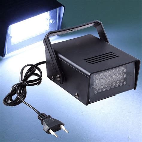 Grosir Lutron Dt 2239a Stroboscope 1 stroboscope 3w 24 led stage lights operated dj strobe disco club ktv stroboscope white