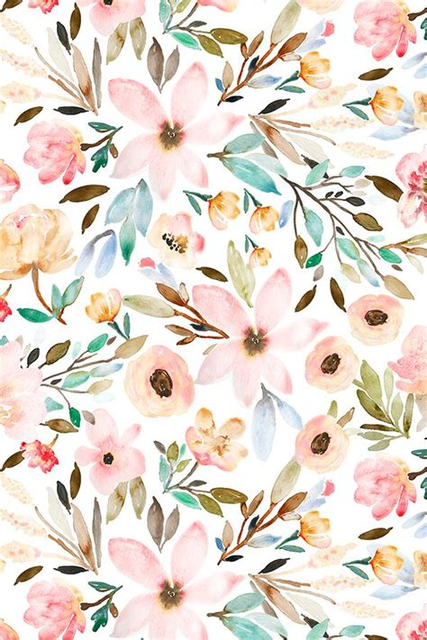 watercolor pattern flower watercolor floral design by indybloomdesign floral
