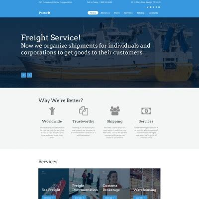 Express Logistics Transport Logistics Html Template transportation templates