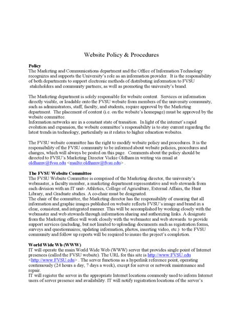 Policies And Procedures Template 2 Free Templates In Pdf Word Excel Download Website Policy Template