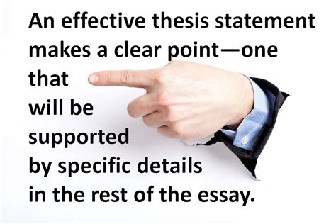 the thesis exercise in identifying effective thesis statements
