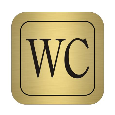 höhe wc пиктограма за wc златна 95 x 95 x 1 5мм masterhaus