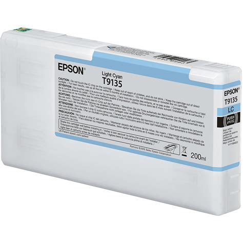 Epson Cyan Ink Cartridge T6732 epson t9135 ultrachrome hdx light cyan ink cartridge t913500 b h