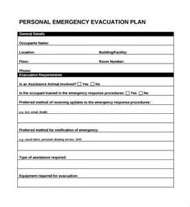 Evacuation Checklist Template by Sle Evacuation Plan Template 9 Free Documents In Pdf