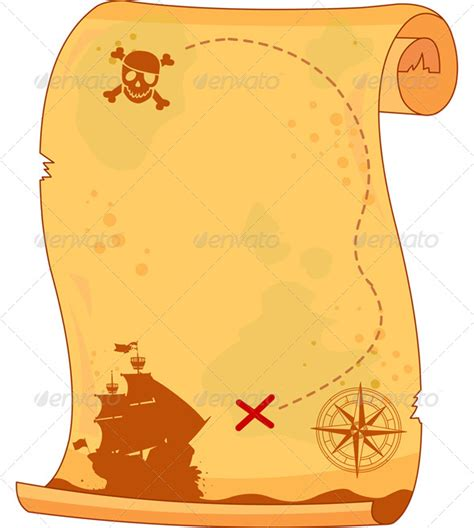 pirate scroll template pirate map graphicriver