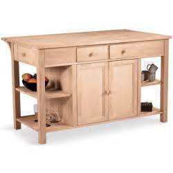 Unfinished Furniture Kitchen Island Kitchen Carts Kitchen Islands Work Tables And Butcher Blocks With Styles Finishes