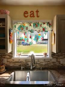Kitchen Window Curtains Walmart by Clover House Pioneer Woman Tablecloth Turned Into Curtains