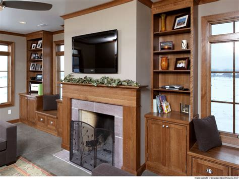 showplace cabinets fireplace surround traditional