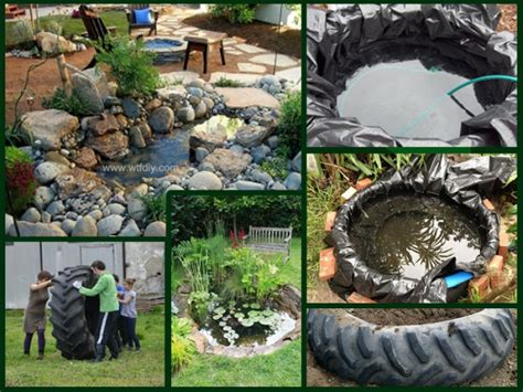how to make diy tractor tire garden pond landscaping diy tag