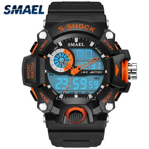 S Shock Sport 2168 smael watches army mens reloj electronic led sport wristwatch digital