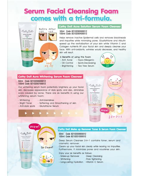 L7120 Cathy Doll Acne Solution Serum Foam 3 In Kode Pl7120 3 jual acne solution serum foam cleanser 100ml cathy doll indonesia