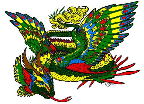 quetzalcoatl drawing